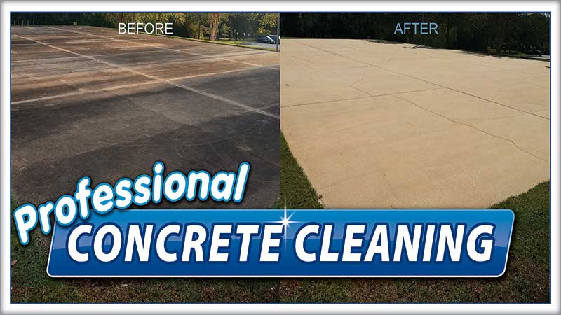 concrete cleaning extra mile power washing