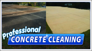 Concrete cleaning by Extra Mile Powerwashing in Bunker Hill, WV