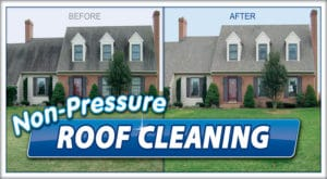 Roof Cleaning by Extra Mile Powerwashing, the pressure washing experts in Martinsburg and Inwood, WV