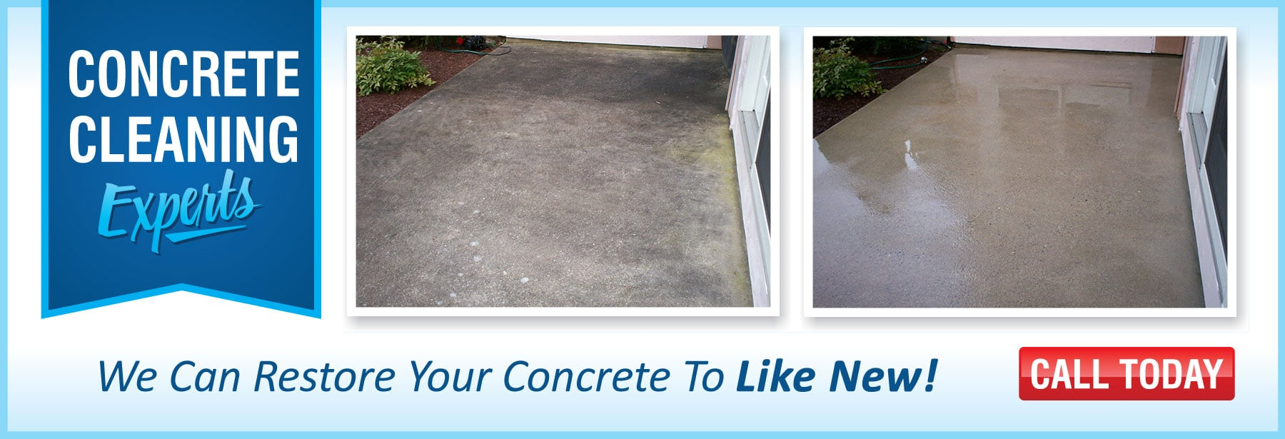 Extra Mile Powerwash concrete cleaning in Martinsburg WV