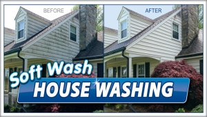 Extra Mile pressure washing using softwash in Martinsburg, WV