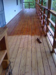 Deck cleaning by Extra Mile Powerwashing in Martinsburg, WV