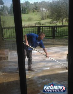 Deck powering washing and all types of pressure washing by Extra Mile Powerwashing in Martinsburg, WV