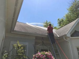 Roof cleaning by Extra Mile Power Washing in Martinsburg, WV