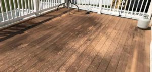 Deck in need of cleaning and restoring by Extra Mile Powerwashing in Martinsburg, WV
