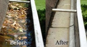 Gutter Cleaning in Bunker Hill, WV by the pressure washing experts at Extra Mile Powerwashing