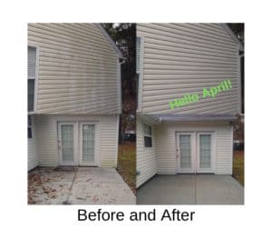 April pressure washing with Extra Mile Powerwashing in Bunker Hill, WV