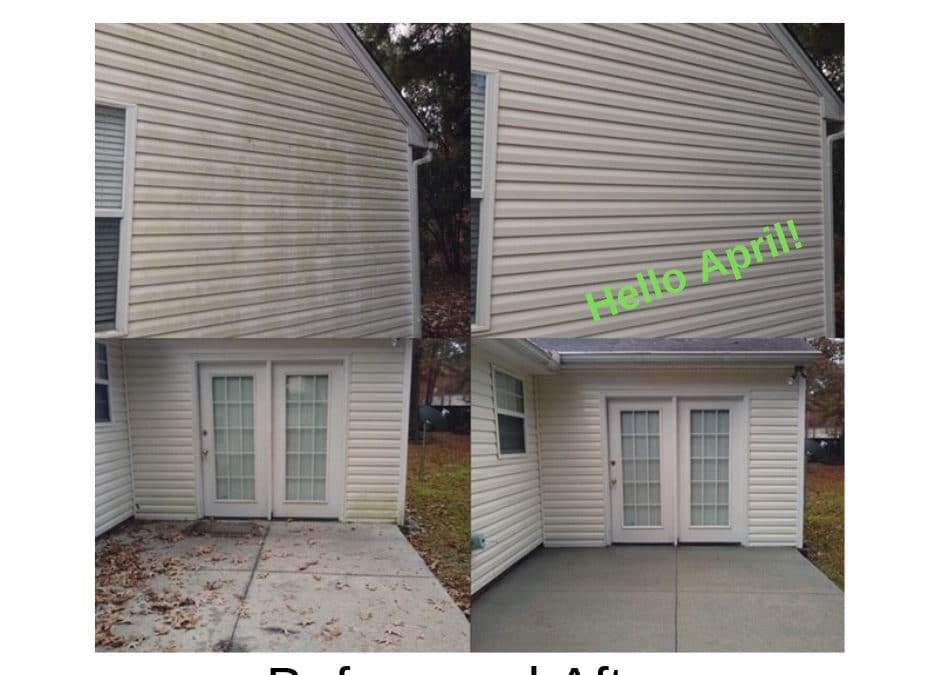 April Pressure Washing for Spring Cleaning
